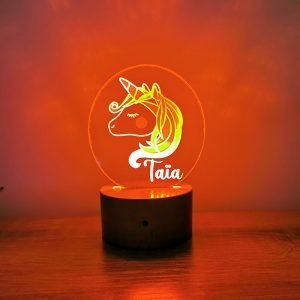 Lampe personnalisée – Licorne