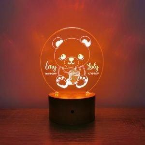 Lampe personnalisée – Ourson