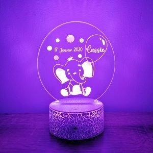 Lampe personnalisée – Eléphant