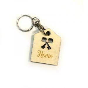 Porte clé maison en bois peuplier