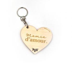 Porte-clés «Mamie d'amour» à personnaliser