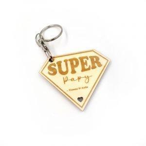 Porte-clés «Super Papy» à personnaliser