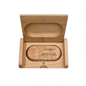 Clé USB à personnaliser avec boîte en bois d'érable 2.0/4GB