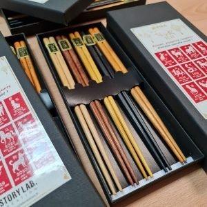 Set de 5 paires de baguettes chinoises (avec ou sans personnalisation)