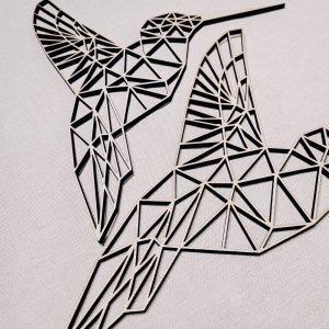 Colibri géométrique en bois