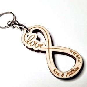 Porte-clés Infini «Love» à personnaliser
